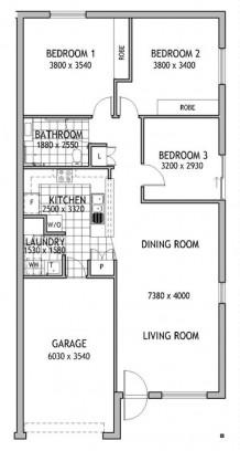 Angas Court 3 Bed Floorplan